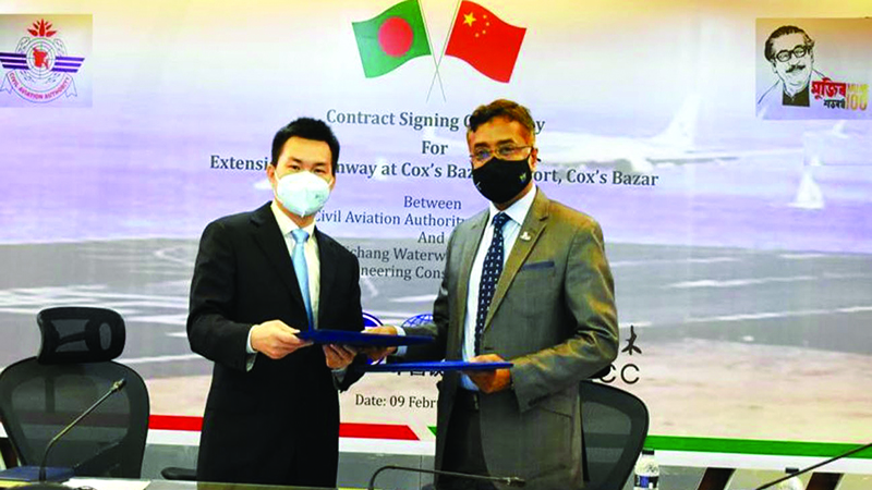 CAAB inks deal with Chinese JV to expand Cox's Bazar Airport runway